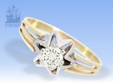 Ring: vintage Brillant-Solitärring sehr schöner Qualität, 0,38ct