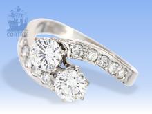 Ring: hochwertiger Diamantring, ca. 1,1ct