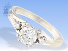 Ring: hochfeiner vintage Diamantring, Amsterdamer Schliff, ca. 0,9ct