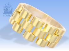 Ring: schwerer vintage Wempe Kettenring im Rolex-Jubilé-Design, 18K Gelbgold