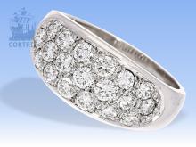 Ring: sehr hochwertiger Bandring mit Brillanten in Spitzenqualität, 1,57ct, Zertifikat IGI Antwerpen