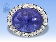 Ring: hochwertiger, ehemals sehr teurer Tansanitring mit riesigem Tansanit von 15,77ct, Neupreis 8000?