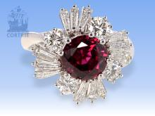 Diamond and ruby ring, 4.1ct