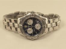 Wristwatch: sportive gentlemen's watch Breitling Colt Chronograph, stainless steel, reference A53035, with original box, from the 90s