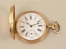 Taschenuhr: prächtig gravierte Goldsavonnette, Robert a Geneve, um 1880