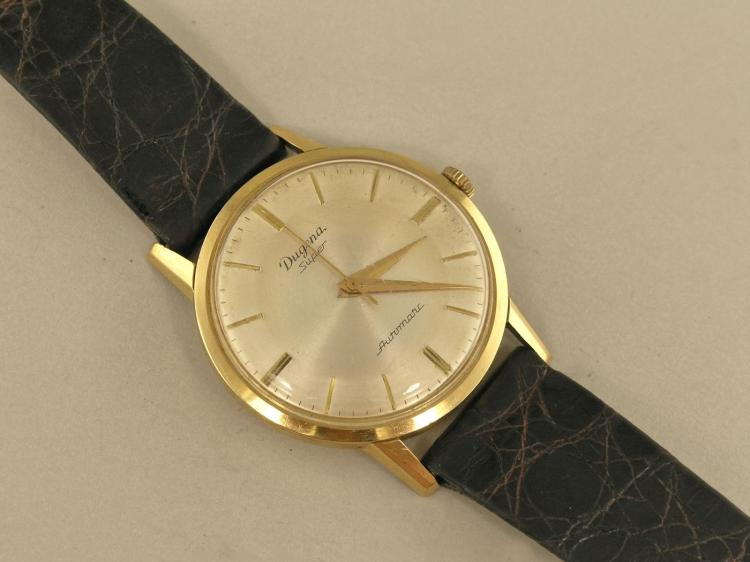 Armbanduhr: vintage Herrenuhr, um 1960, Dugena Super Automat