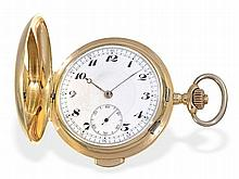 18 K gold huntingcase watch with repetition