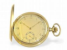 fine gold huntingcase watch with fine adjusting device, ca. 1925
