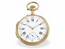 very fine 18 K lever chronometer with lateral hinge, ca. 1900
