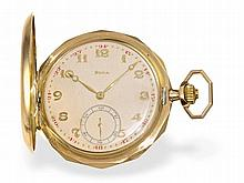 decorative gold huntingcase watch by Doxa Locle, ca. 1925