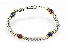 Ruby and Sapphire bracelet