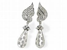 diamond earrings, 1.8 ct