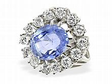 diamond and sapphire ring, 4.7ct