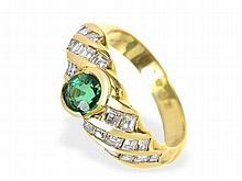 Emerald and diamond ring by Wempe, loup clean