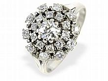 diamond cluster ring, approximately 1.5 ct