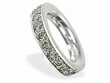 platinum diamond ring, approximately 3 ct