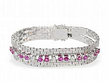 fine bracelet with rubies and diamonds, approximately 2 ct