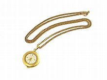 18 K chain with small pocket watch