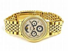 Wristwatch: Automatic gentlemen's watch with triple date and moon, Oris