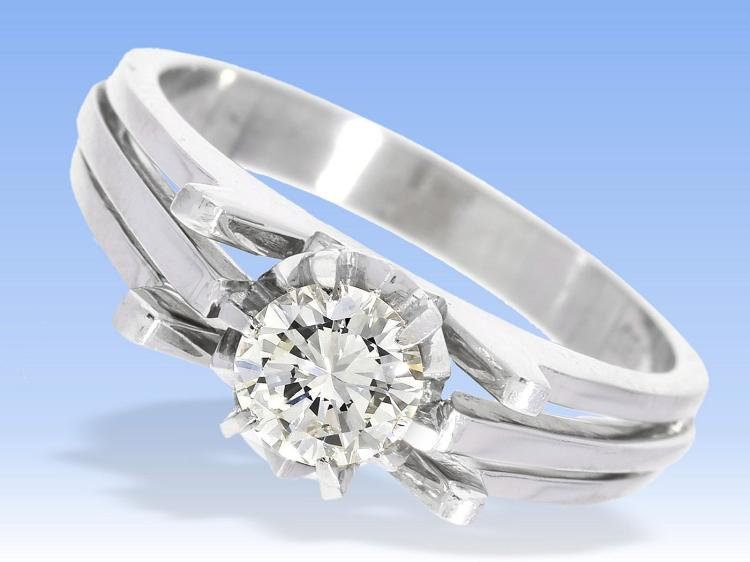 Diamond solitaire ring, approximately 0.55ct