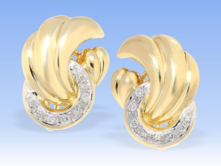 Very fine and new diamond earrings