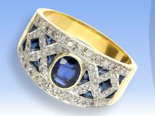 Nice diamond and sapphire ring