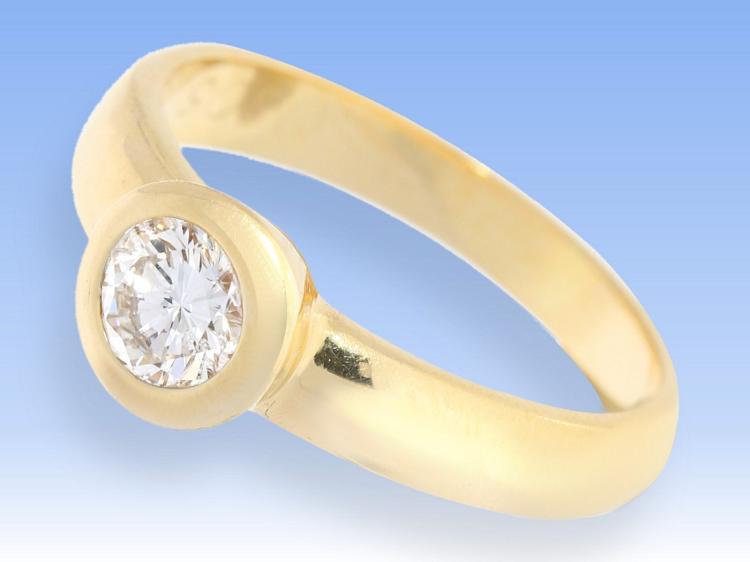 Diamond solitaire ring, 0.5 carat