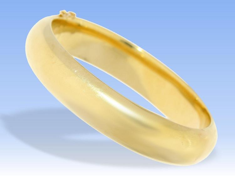 Heavy bangle, 14K