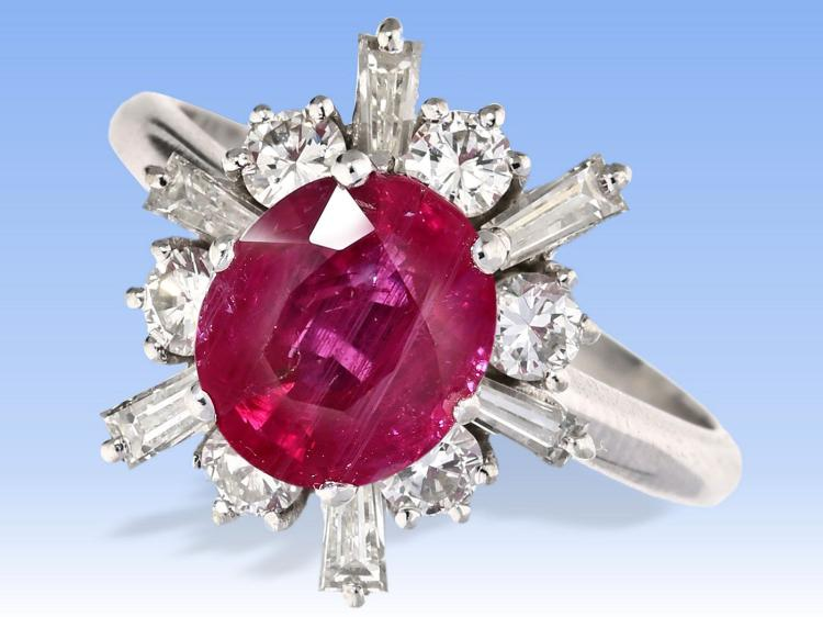 Nice ruby and diamond ring