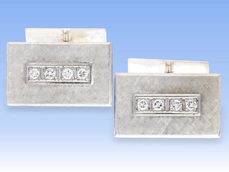 Vintage diamond cufflinks