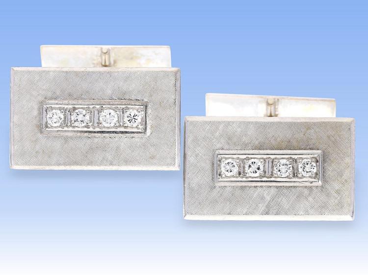 Vintage diamond cufflinks