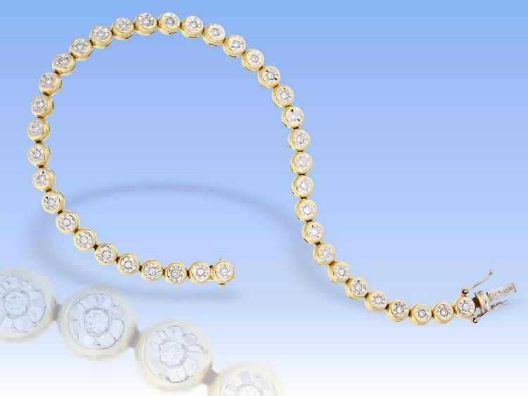 Fine diamond bracelet