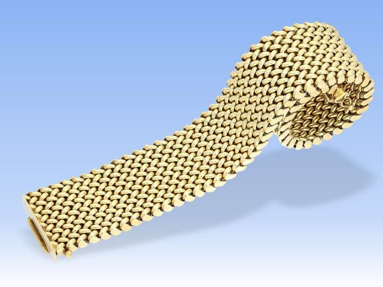 Armband: breites und schweres vintage Goldschmiedearmband