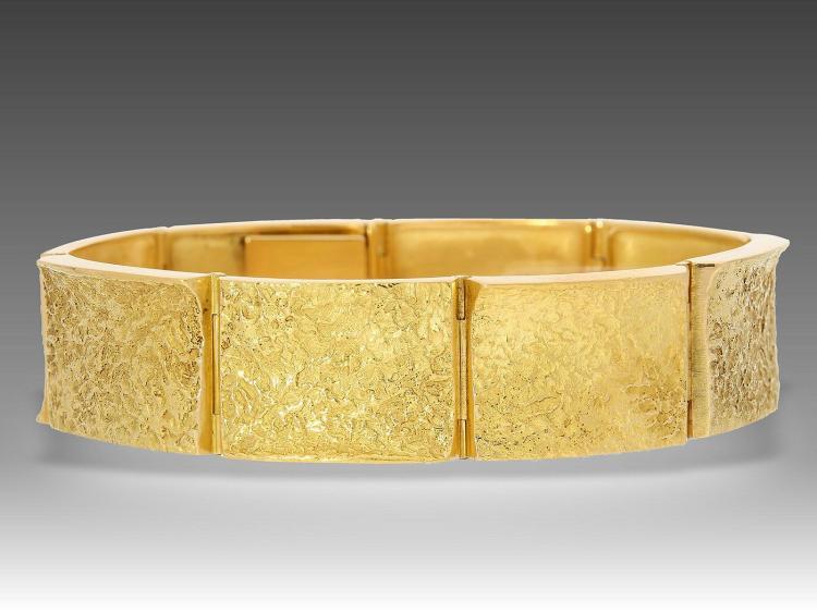 Heavy designer bracelet by Anton Frühauf Meran