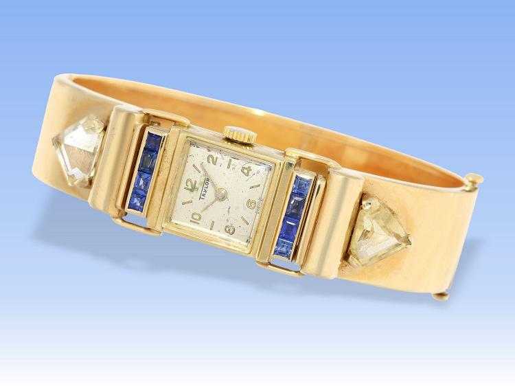 Art déco wristwatch 14K gold