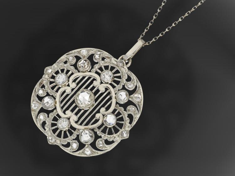 Very nice Art Nouveau diamond pendant