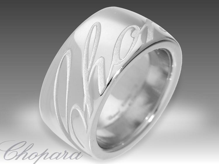 Modern white gold ring by Chopard