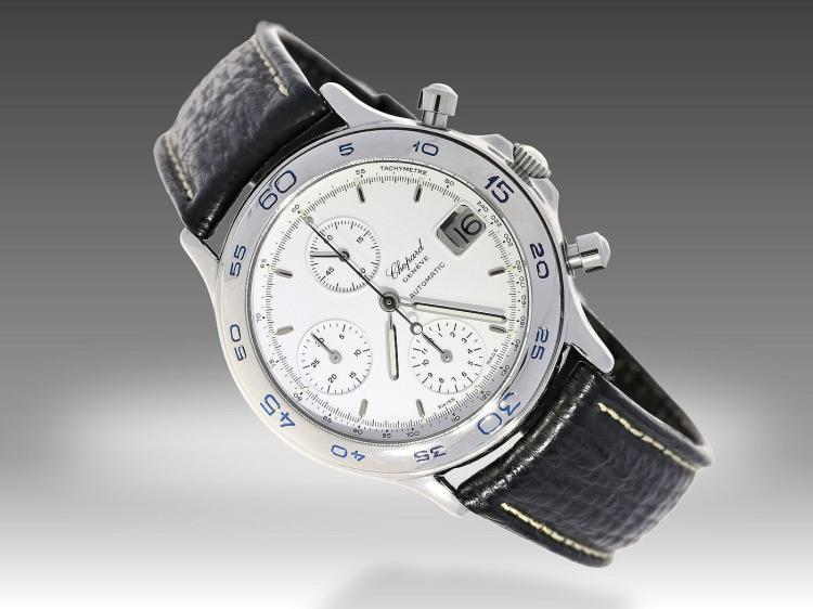 Modern wristwatch by Chopard, box and papers