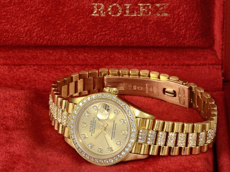 Wristwatch, ladies diamond Rolex-Datejust