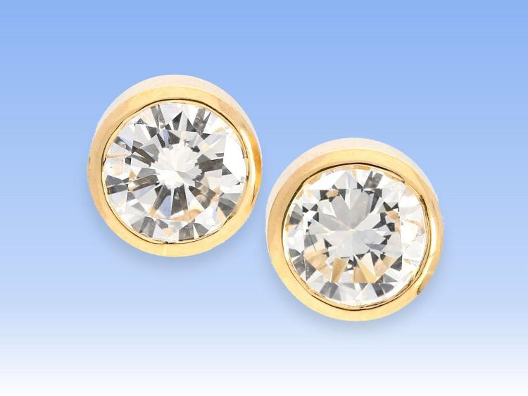 Very nice diamond earrings, 1ct