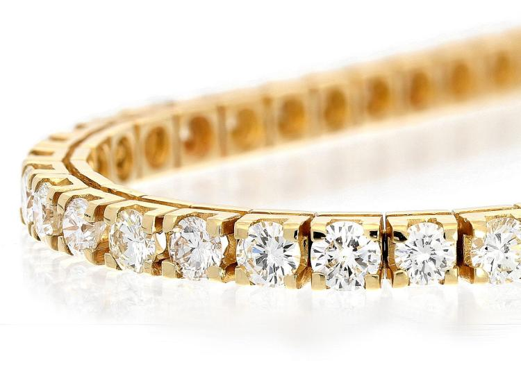 High-quality diamond line bracelet, 7ct