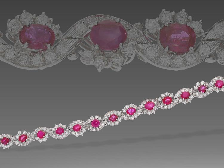 Very expensive vintage diamond and ruby bracelet