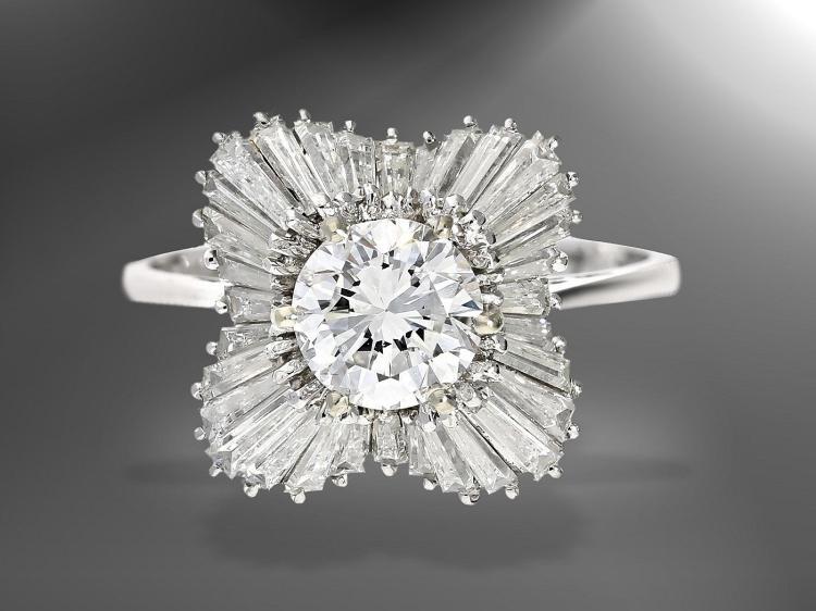 Fantastic vintage diamond ballerina ring