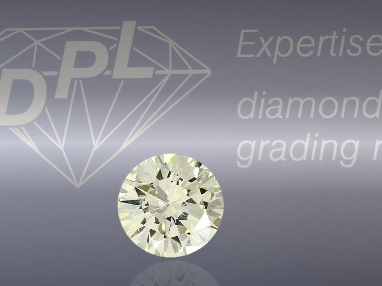 Natural coloured diamond, 1.34ct fancy light yellow