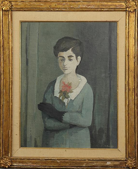 Marcello Boccacci (Italian 1914-1996) Young Man w/a red flower