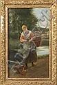 Luis Jimenez Aranda (Spanish, 1845-1928) Young lady w/vegetable basket