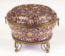 Moser (Probably) Jewelry Box with Enameled Birds and Flowers