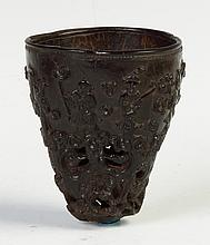 Chinese Carved Coconut Drinking Vessel