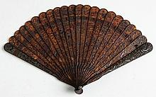 Chinese Carved Tortoise Shell Fan