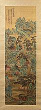 Watercolor on Silk, Scroll of  Landscape